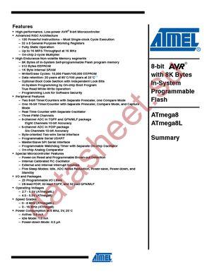Atmega 8 Подробное Описание