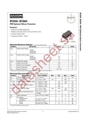 BC857B даташит Fairchild Semiconductor бесплатно скачать в pdf ...