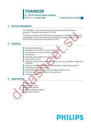 TDA8920BJ datasheet.