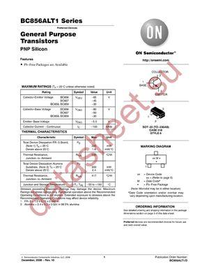BC857BLT1G даташит ON Semiconductor бесплатно скачать в pdf ...