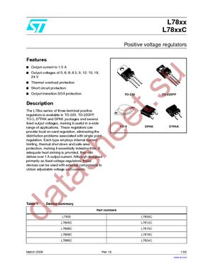 L7805CV даташит STMicroelectronics бесплатно скачать в pdf ...
