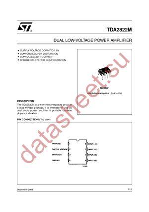 TDA2822M datasheet.