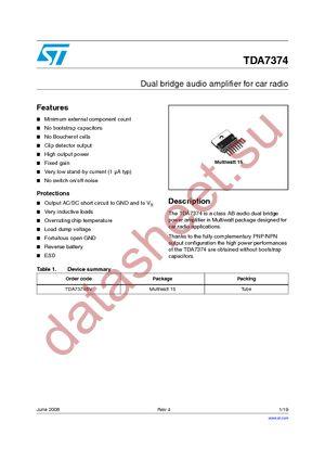 TDA7374BV datasheet.